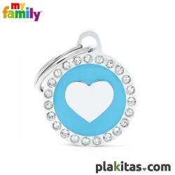 Círculo Azul con Corazón...