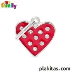 Corazón Rojo con Brillantes
