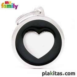 Círculo Negro con Corazón