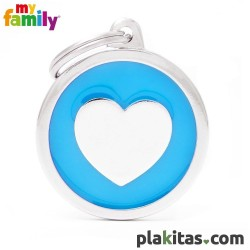 Círculo Azul con Corazón