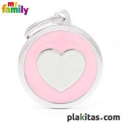 Círculo Rosa con Corazón