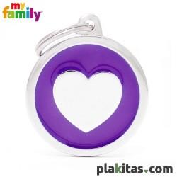 Círculo Violeta con Corazón