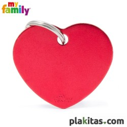 Corazón Rojo L Aluminio
