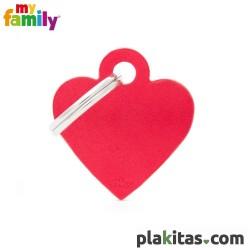 Corazón Rojo S Aluminio