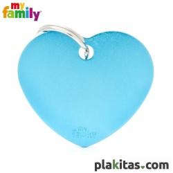 Corazón Azul L Aluminio