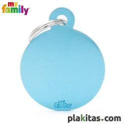 Círculo Azul L Aluminio