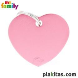 Corazón Rosa L Aluminio