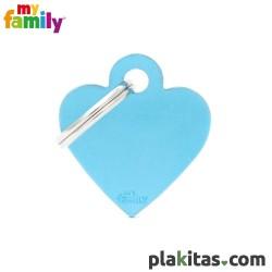 Corazón Azul S Aluminio